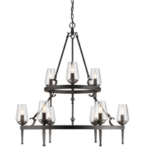 Golden 1208-9 DNI - 2 Tier - 9 Light Chandelier
