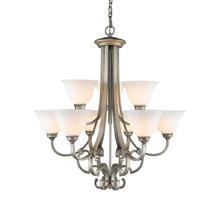 Golden 3711-9 PS - 2 Tier - 9 Light Chandelier