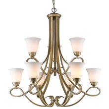 Golden 8107-9 WG - 2 Tier - 9 Light Chandelier